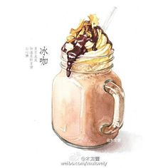 chòm sao] Time Flows In You [Editing] Dessert Illustration, Coffee Illustration, Watercolor Illustration, Kawaii Drawings, Cute Drawings, Cute Food Art, Food Sketch, Watercolor Food, Food Painting
