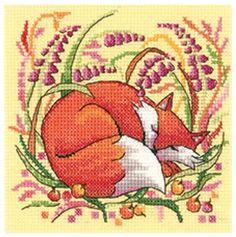 Fox - Heritage Crafts cross stitch kit