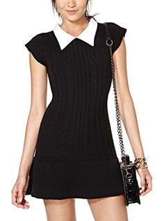 Oure Women Cute Collar Short Sleeve Sweater Dresses Slim Fit Long Knitwear Sweet Pullover Sweater Dress black xxs Oure http://www.amazon.com/dp/B0179IJK7O/ref=cm_sw_r_pi_dp_foEmwb1BW20G8