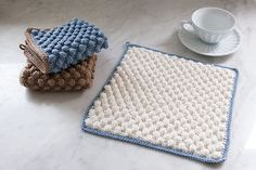 Bobble Crocheted Washcloth by Kerin Dimeler- Laurence