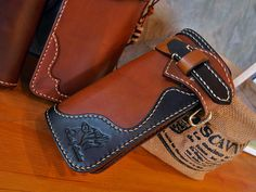 Sale Tan and Brownie Handmade Long Wallet Biker