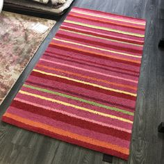 Main Colors, Colours, Pink Rugs, Childrens Rugs, Stripes Design, Boy Or Girl, Kids Room, Area Rugs, London