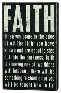You just gotta have faith...#quote