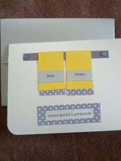 Wedding DIY handmade card