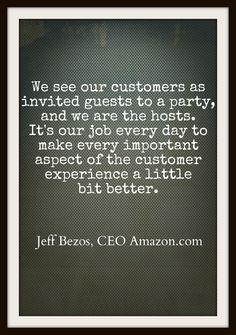 Мы представляем наших покупателей приглашенными гостями вечеринки, а мы хозяева дома. И нашей каждодневной задачей является сделать покупательский опыт чуть лучше.