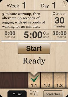 Couch to 5k iPhone app.