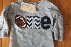 One football shirt navy 1st birthday by BabyEmbellishments on Etsy