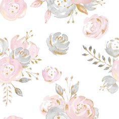 This watercolor floral rug in blush pink, gold, and gray will complete your baby girl nursery or girls room! Now you can have a rug to match your crib bedding, toddler bedding, or even big kid and tween bedding sets! View coordinating items and design variations here: