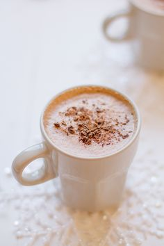 hot chocolate - yum, ready for a bit of winter now!