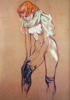 Henri de Toulouse-Lautrec, Woman Putting on Her Stockings, n.d.
