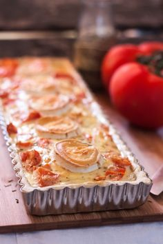 Quiche tomates, herbes et chèvre =quiche tomatoes, herbs and goat Light Recipes, Wine Recipes, Snack Recipes, Cooking Recipes, Vegetarian Quiche, Turnover Recipes, Tasty, Yummy Food, Eat Breakfast