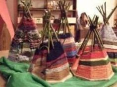 I love the idea of weaving your teepee. Maybe even to make them for dolls and play figures.