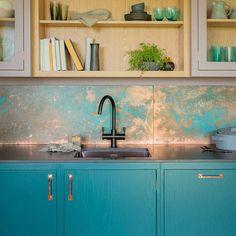 Home Interior Kitchen .Home Interior Kitchen Kitchen Credenza, Kitchen Design Color, Kitchen Design Small, Kitchen Design Trends, Kitchen Trends, Interior Design Kitchen, Kitchen Backsplash Metal Tiles, Kitchen Backsplash Trends, Kitchen Design