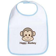 Monkey Birthday Party Ideas: Birthday monkey bib