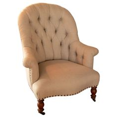 French Chair | From a unique collection of antique and modern club chairs at http://www.1stdibs.com/furniture/seating/club-chairs/