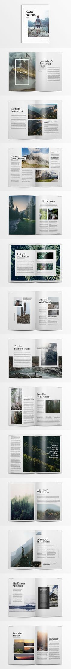 Creative and Minimalist Magazine Template Adobe InDesign INDD - Page Layout Design Editorial Design Inspiration, Design Editorial, Brochure Design Inspiration, Editorial Layout, Layout Inspiration, Adobe Indesign, Page Layout Design, Magazine Layout Design, Magazine Layouts