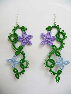 Tatting earrings handmade jewelry lace earrings by ShopGift, $12.00