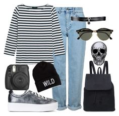 """""""Nana"""" by betty220285 ❤ liked on Polyvore featuring Topshop, J.Crew, Kenzo, Fallon, Fujifilm, Ray-Ban and American Eagle Outfitters"""