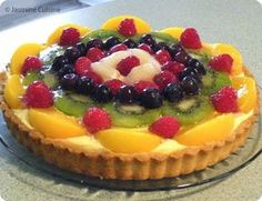 Biscuits Aux Fruits, Pie Recipes, Cooking Recipes, Cold Meals, Pie Dessert, Tupperware, Pavlova, Fruit Salad, Cheesecake