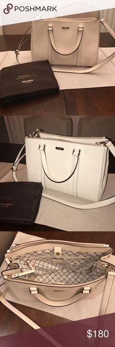 Kate Spade Large Satchel/Crossbody 100% authentic! In EXCELLENT condition! Looks brand new! Only worn less than a handful of times. This bag versatile. Crossbody/Satchel Handbag all in one! Dust bag included. Will ship out the NEXT DAY! Price is negotiable! kate spade Bags