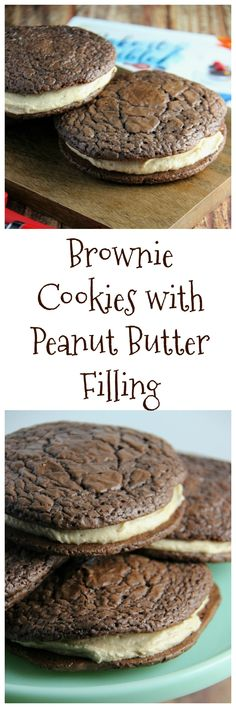 Brownie Cookie with Peanut Butter Filling - Family Food And Travel