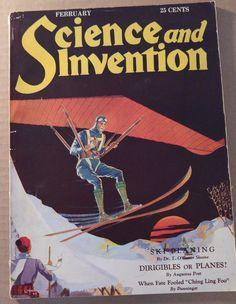 FEB 1930 SCIENCE AND INVENTION MAGAZINE- DUNNINGER MAGIC, SAM LOYD PUZZLES
