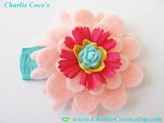 Girls/Toddler Flower Clip by Charlie Coco's.