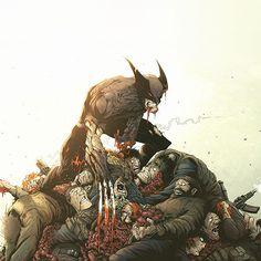 Papers.co wallpapers - av95-wolverine-illustration-art-toronto-revolver-hero-flare - http://papers.co/av95-wolverine-illustration-art-toronto-revolver-hero-flare/ - game, hero, illustration