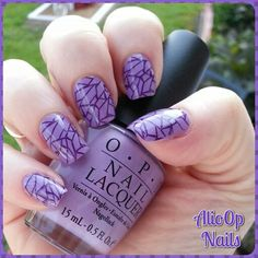 Opi: Do You Lilac It? With Color Club: Wild at Heart for stamping.