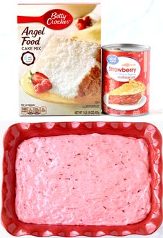 Angel Food Cake Recipes - 2 Ingredients Easy Strawberry Dessert!  You won't believe how fast and simple it is to make this fluffy berry treat!  It's the perfect end to any day!  Go grab the recipe and give it a try this week! Strawberry Angel Food Cake, Angel Food Cake Desserts, Easy Strawberry Desserts, Easy Summer Desserts, Dessert Cake Recipes, Cake Mix Recipes, Fun Desserts, Delicious Desserts, Cake Mixes