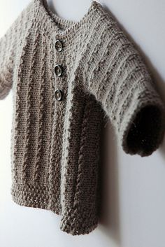 One Piece Sweater Knitting Pattern : Knitted Baby Cardigan on Pinterest Baby Knitting Patterns, Knitted Baby and...