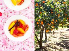 Orange fruit salad with spices - Salade d'oranges aux epices.  Shared with us by Chef Margaret Fox of Mendocino.