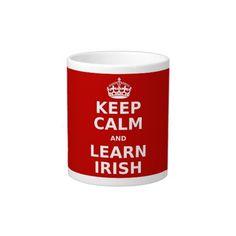 """Keep Calm and Learn Georgian"" Extra Large Mug - parleremo - language - languages - georgian Irish Language, Spanish Language, Extra Large Coffee Mugs, Learn German, Tagalog, Learning Spanish, Coffee Travel, Ipa, Keep Calm"