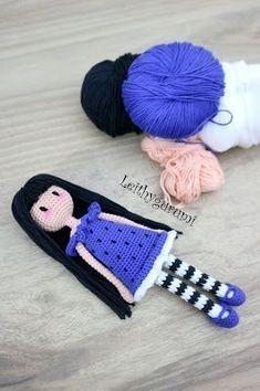 Crochet Bookmark Amigurumi English Ideas For 2019 Marque-pages Au Crochet, Crochet Gratis, Crochet Patterns Amigurumi, Amigurumi Doll, Crochet Toys, Free Crochet, Double Crochet, Baby Knitting Patterns, Crochet Dolls Free Patterns