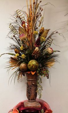 #Dried #floral #arrangement designed by Arcadia Floral and Home Decor