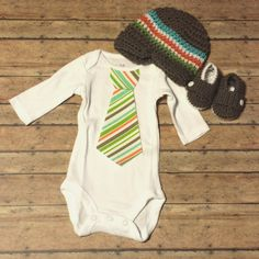 Baby Boy Coming Home Outfit Tie shirt by CheekyBabyBoutique, $65.00