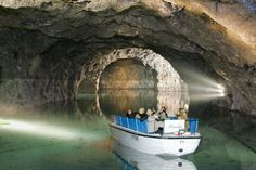 The Seegrotte outside Vienna in Austria--largest underground lake in Europe Day Trips From Vienna, Vienna Woods, Luftwaffe, Travel Abroad, Day Tours, Walking Tour, Vacation Spots, Budapest, Vienna