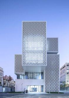 Gallery of Shanghai Chess Academy / Tongji Architectural Design - 6 - Facade, Pattern, Texture - Modern Architecture Design, Architecture Office, Facade Design, Modern Buildings, Amazing Architecture, Exterior Design, Architecture Images, Building Facade, Building Design