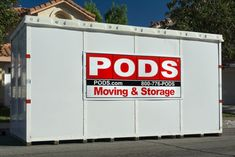 How much does it cost to use PODS? Here's how storage containers work, what it costs, what to expect. Storage Unit Cost, Storage Unit Sizes, Moving Labor, Moving Tips, Moving Hacks, Moving Containers, Storage Containers, Pods Moving And Storage, Moving Across Country
