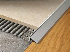 Glossy steel edge profile for floors PROSLIDER   Glossy steel edge profile - PROGRESS PROFILES