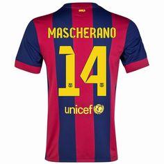 971f27427df Javier Mascherano  14 Barcelona 15 16 Home Jersey Barcelona Jerseys