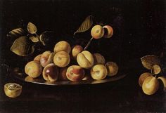 Zurbaran - Still Life of Apricots on a Platter