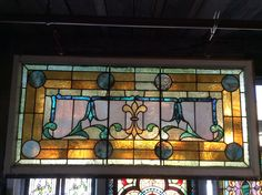 Unusual Antique Transom window