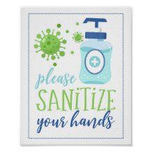 PrinterFairy: Products on Zazzle School Health, Cute Signs, School Signs, School Posters, School Decorations, Bullet Journal Inspo, Custom Posters, Hand Sanitizer, Custom Framing
