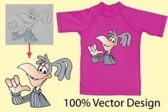 Unique t-shirt Design for screen print