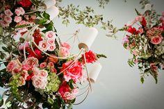 A stunning floral chandeleir