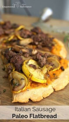 italian sausage paleo flatbread pizza!