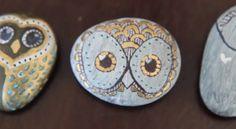 Owl paper weight rocks!