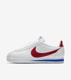 1f1d9d0ec Women s Nike Classic Cortez Premium  White   Varsity Royal   Varsity Red   Release Date