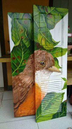 Ideas Wood Decoration Painting For 2019 Decoupage Furniture, Hand Painted Furniture, Recycled Furniture, Paint Furniture, Furniture Makeover, Decoupage Drawers, Painted Chairs, Painted Doors, Tole Painting